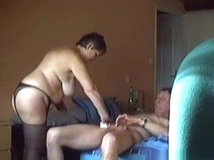 Fat milf and her husband bedroom sextape