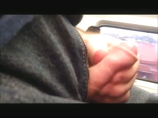 Jerking off on a moving train
