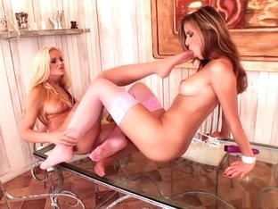 Amazing pornstars Sandra Shine and Peaches Johnson in best lingerie, blowjob xxx movie