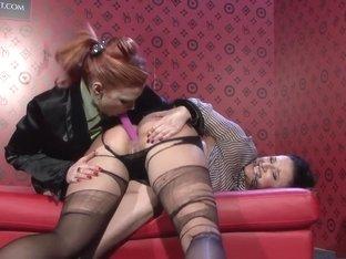 Crazy pornstar Tarra White in incredible blowjob, lingerie sex clip