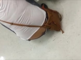 Asian Showing Crack and Panties