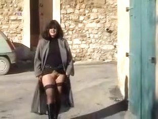 Exhibitionist wife showing off outside