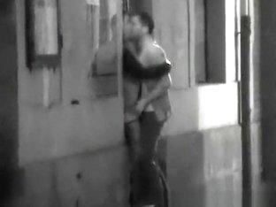 Teen couple caught fucking in street