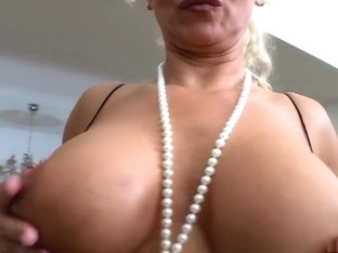 Amazing pornstar Silvia Monti in incredible interracial, blonde porn clip