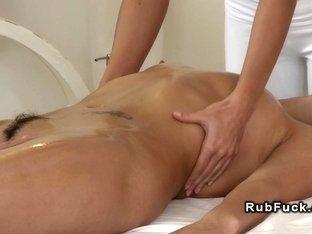 European threesome lesbian massage