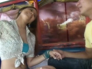 Tatiana gets in the public sexy action scene