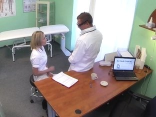 FakeHospital Naughty blonde nurse gets doctors cock