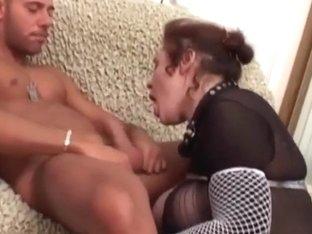 Hot milf got banged in her black lingerie