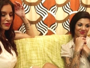 Bonnie Rotten and Gia Dimarco squirt uncontrollably over each others toes