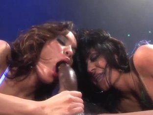 Renae Cruz and Savannah Stern whacks up the black root