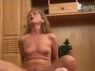 Sexy Hot Redheaded Granny Banging on Floor