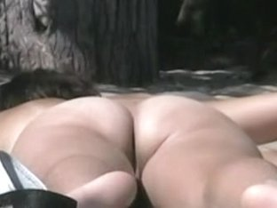 Hairy pussy sunbathing on the nudist beach and caught on cam