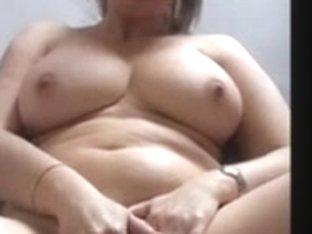 bulky older disrobes and masturbates in room