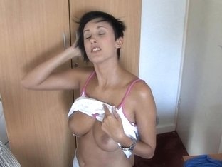 Nice tits flashing in an awesome free down blouse video