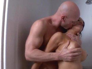 Sexy girl Brianna Sparks and her boyfriend in shower