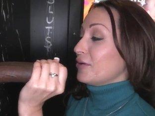 Vanessa Luna sucks & bangs with cocks from holes