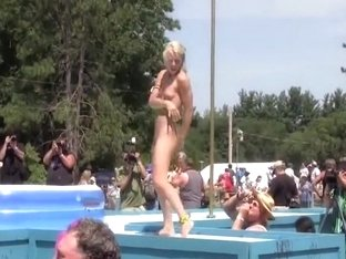 Our local girls getting wild by the pool