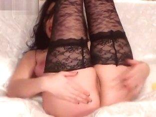 Beladonna in black stockings