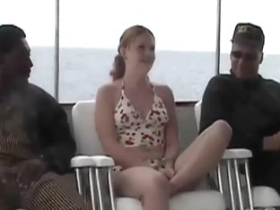 Redhead Cherry Goes Boating With 2 Cocks