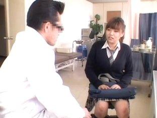 Kinky Gyno examination for a hot Japanese teen slut