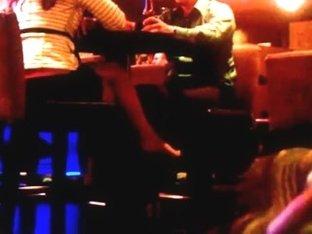 hidden foot play in bar
