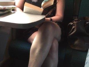 sexy legs in train