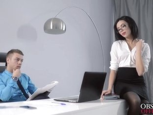 Nikola bent Sheri over his office desk and drilled her hard