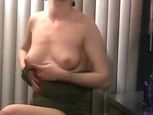 Brunette babe playing with vibrator into her pussy