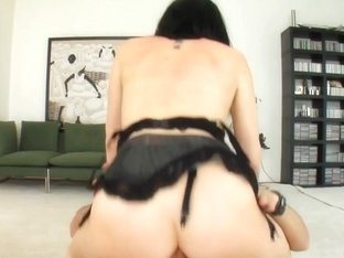 Two guys get to pound these super horny girls in the ass.