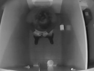 Voyeur toilet scenes with female spied from the above