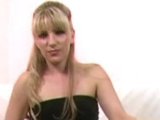 Hot blonde dominatrix shows her toys and skills