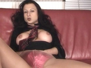 Trinity-Productions: Wet Look Blouse With Tie