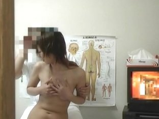 Skillful perverted masseur rubbing his client's twat