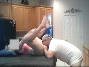 Mature Older Wife Fucked in Kitchen Sex by Senior Husband