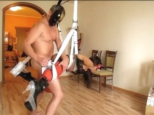 Kinky BDSM fuck in the living room