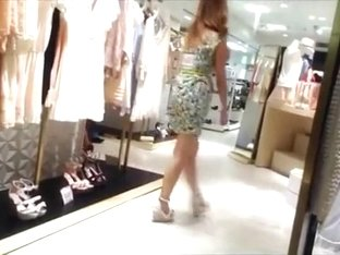 Japanese sales lady upskirt 2
