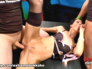 Hottest pornstar in Crazy Group sex, Facial adult clip