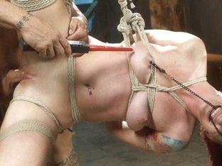 Horny fetish sex video with best pornstars Derrick Pierce and Sophia Locke from Dungeonsex
