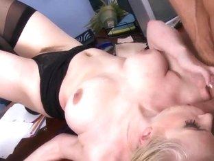 Blonde schoolgirl Danielle Delaunay pleasures Johnny Sins