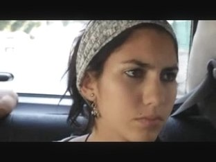 Chicks driving in a taxi in voyeur cam video