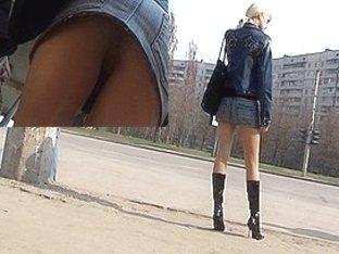 Up petticoat of blond hooker