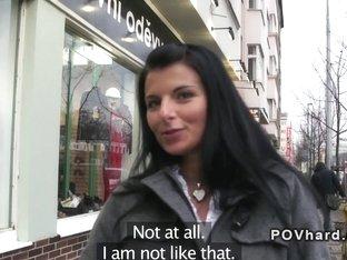 Amateur babe pov fucking outdoor in public