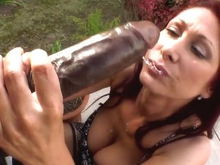 Very nice and hot bitch Tiffany Mynx sucks on a huge dick
