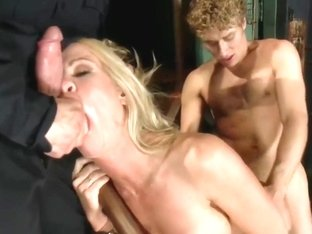 Simone Sonay Fucked By Security Guards In The Armory (720p)