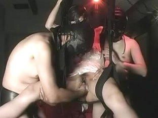 Wet bun humped hard with sex toy in masturbation movie