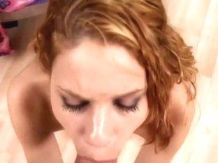 Diminutive Redhead Legal Age Teenager Mae Olson Getting A Cum Facial