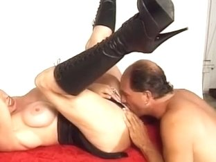Classic Teddi Barrett Banging in Boots