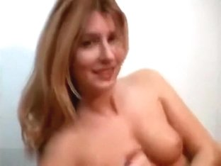 So sexy painted blonde wife make a hot handjob when parents are out,damn!