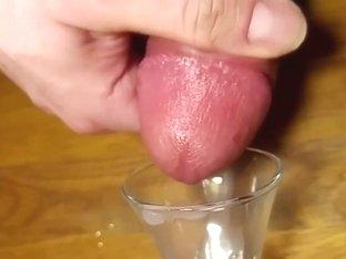 120fps close up huge cum shot to shot glass