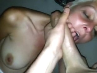 Cumming on the face of a fucked up french cougar